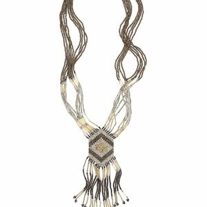 Panacea Beaded Fringed Necklace